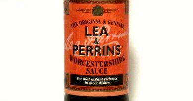 Etikett der Worcestershire Sauce von Lea & Perrins