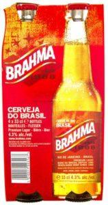 Flasche und Verkaufsverpackung des brasilianischen Brahma Biers